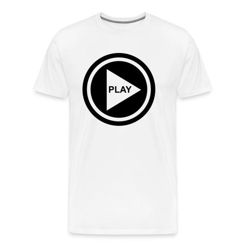 Play Button - Männer Premium T-Shirt