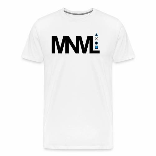 MNML Schrift Symbole Logo minimalistisch Text Icon - Männer Premium T-Shirt