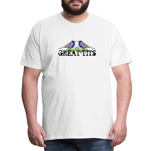 Great tits - Herre premium T-shirt