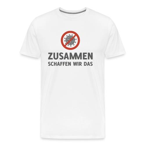 Corona Virus zusammen schaffen wir das - Männer Premium T-Shirt