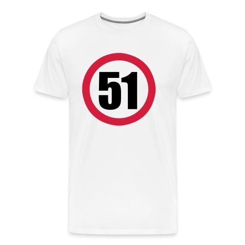 Panneau de limitation 51 - T-shirt Premium Homme