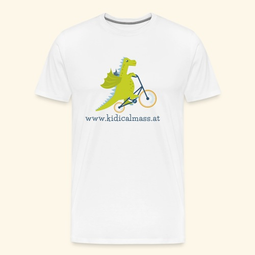 Musikdrache für hellen Hintergrund - Männer Premium T-Shirt
