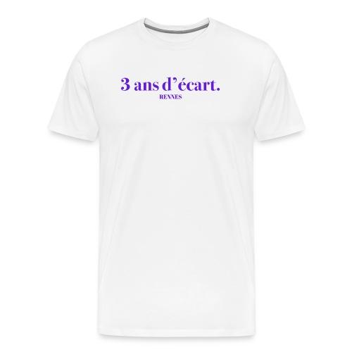 3 Ans D'écart - Nom & Localisation - T-shirt Premium Homme