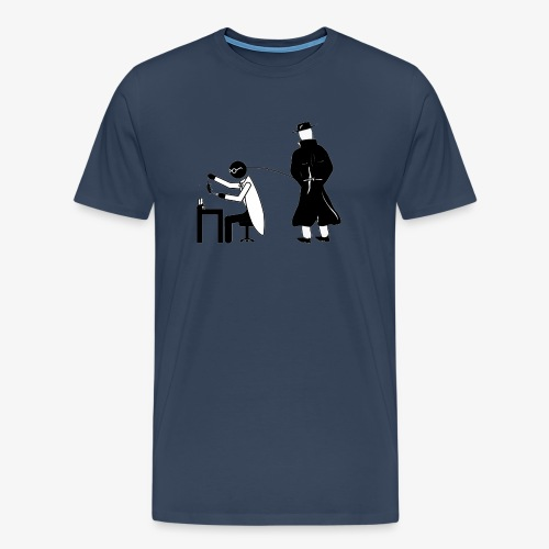Pissing Man against animal testing. - Männer Premium T-Shirt