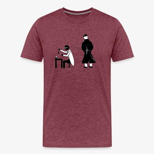 Pissing Man against animal testing. - Männer Premium T-Shirt