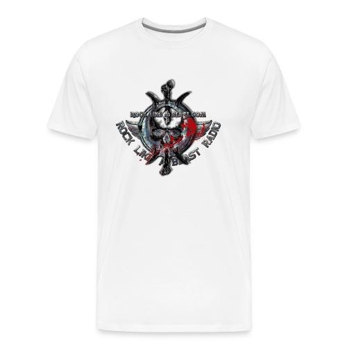 Blood Skull Logo - Premium-T-shirt herr