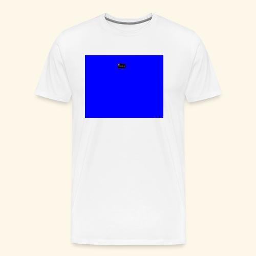 pucci blue background logo - Herre premium T-shirt