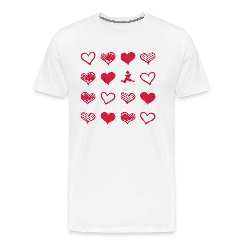 15 Herzen und Tangram - Männer Premium T-Shirt