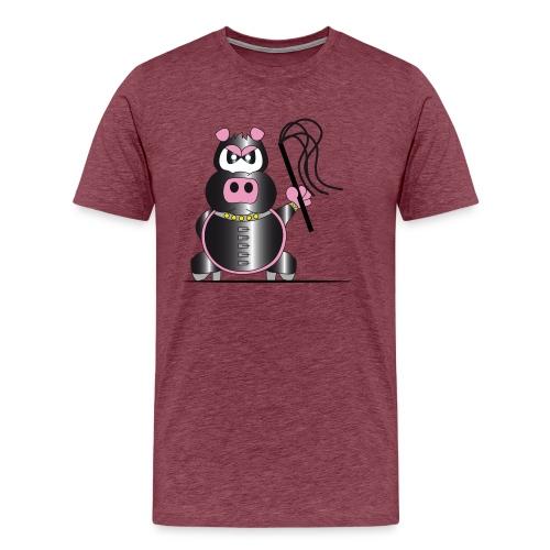 Schweinchen Sado - Männer Premium T-Shirt