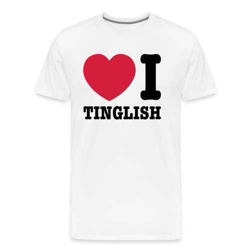 Heart (Love) I Tinglish - Men's Premium T-Shirt