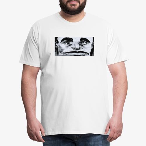 Streetart White Face - Männer Premium T-Shirt