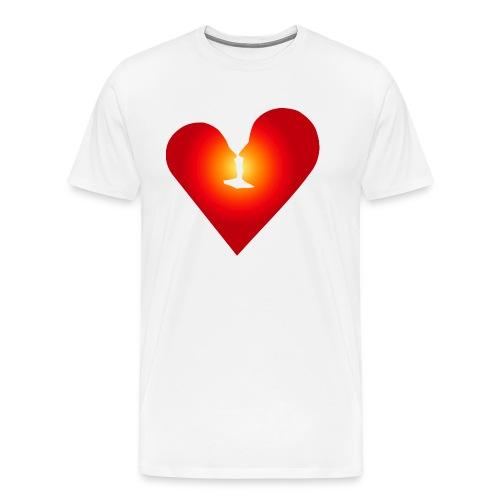 Ein Herz in Liebe - Männer Premium T-Shirt