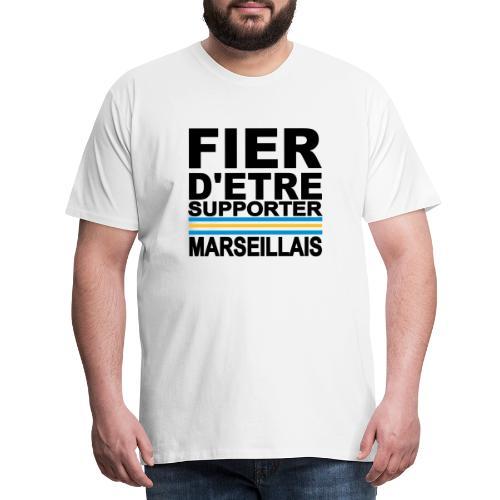 fier marseille noir 01 - T-shirt Premium Homme