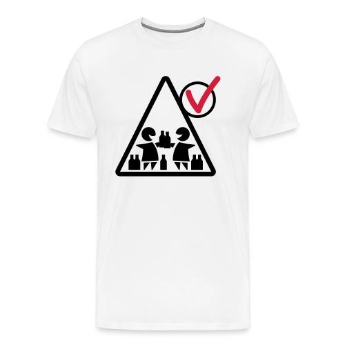 mein-zelt-steht-schon - trink (heller Stoff) - Männer Premium T-Shirt