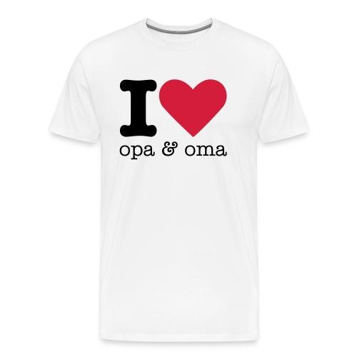 I Love Opa & Oma - Mannen Premium T-shirt