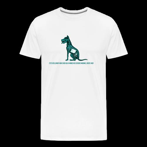 T-shirt pour homme imprimé Chien au Rayon-X - T-shirt Premium Homme