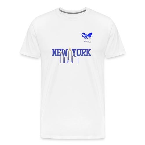 Space Atlas Baseball Shirt New York - Herre premium T-shirt