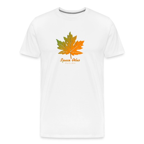 Space Atlas Long Sleeve T-shirt Autumn Leaves - Herre premium T-shirt