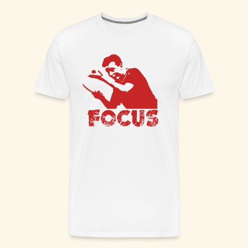 Focus on the GAME and Win the Championship - Männer Premium T-Shirt