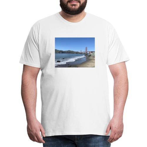 Marshalls Beach San Francisco Golden Gate Bridge - Männer Premium T-Shirt