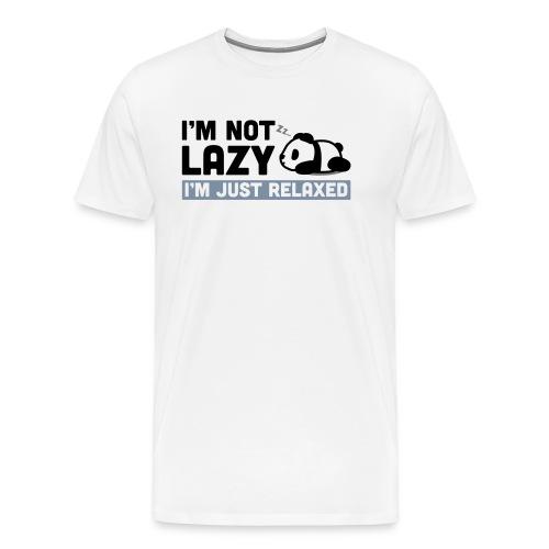 Relaxed Panda - Männer Premium T-Shirt