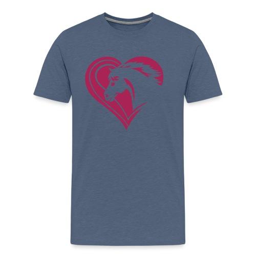Iheart horses - Männer Premium T-Shirt