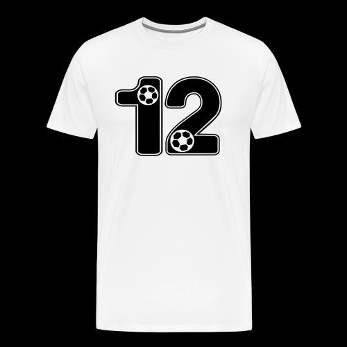 foot numero 12 - Men's Premium T-Shirt