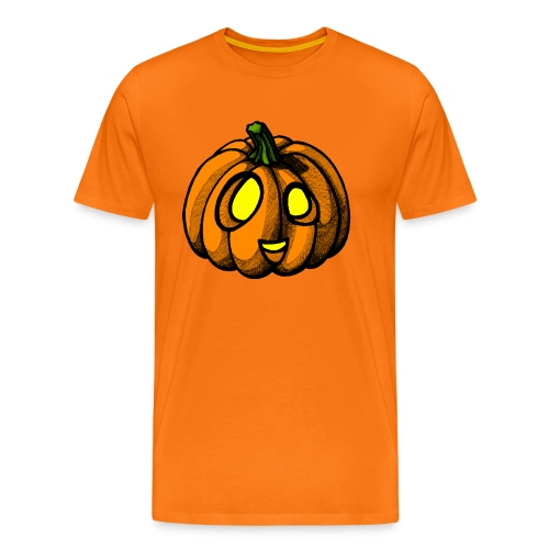 Pumpkin Halloween scribblesirii - Miesten premium t-paita