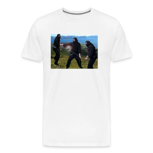 Chasvag ninja - Premium T-skjorte for menn