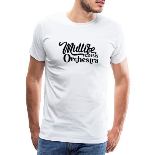 Midlife Crisis Orchestra svart logo - Premium-T-shirt herr