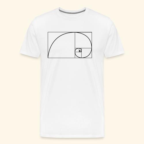Fibonacci nature spiral - Mannen Premium T-shirt