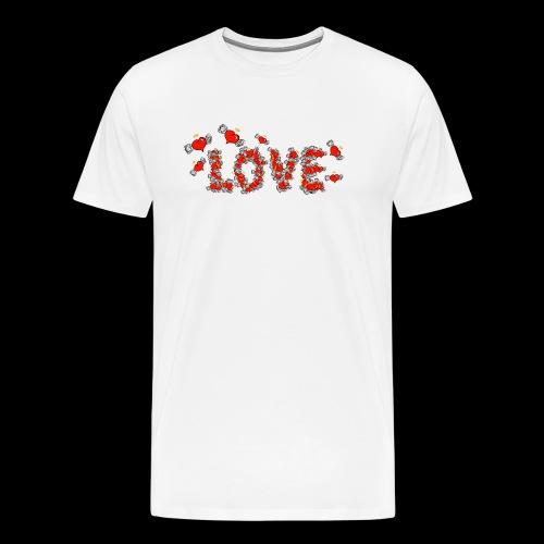 Flying Hearts LOVE - Men's Premium T-Shirt