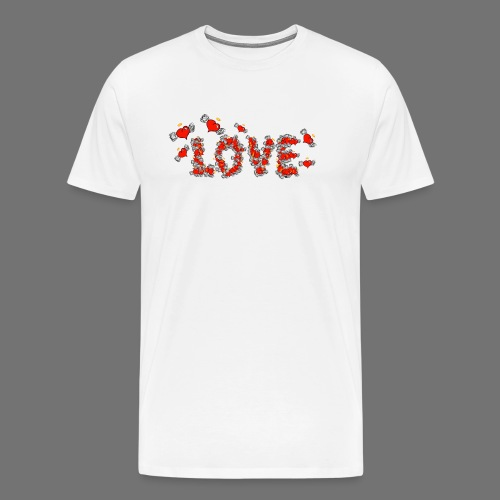Flying Hearts LOVE - Premium T-skjorte for menn