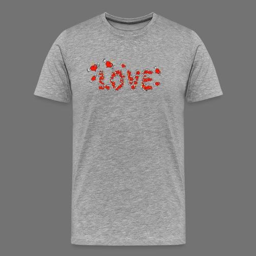 Flying Hearts LOVE - Miesten premium t-paita