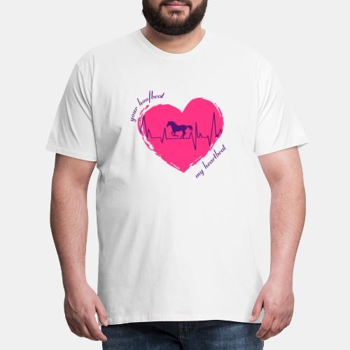 your hoofbeat is my heartbeat galopp_pferd - Männer Premium T-Shirt