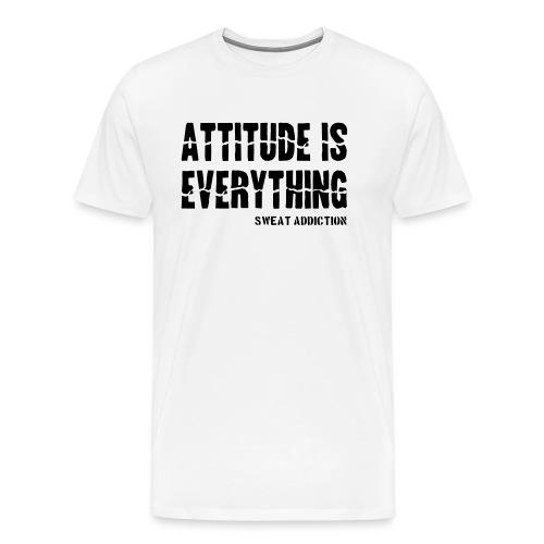 Attitude Is Everything - Miesten premium t-paita