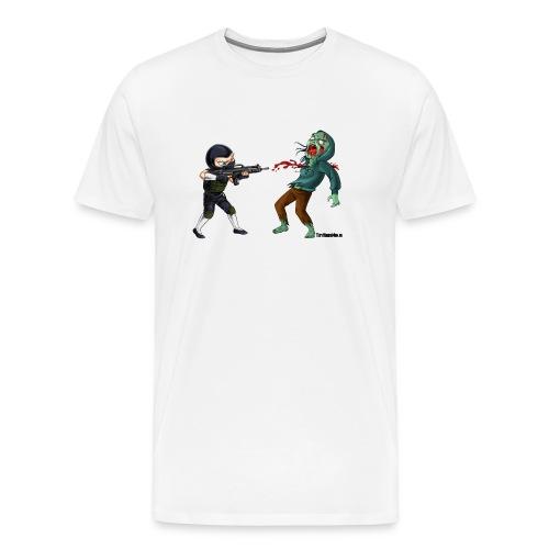 ninja zombie shirt copy - Men's Premium T-Shirt