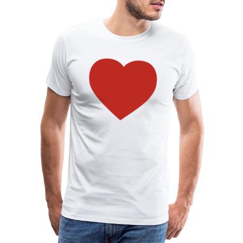 Herz Liebe - Männer Premium T-Shirt