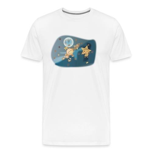 Astronaut und Stern - Männer Premium T-Shirt