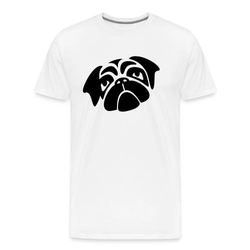 Mops mit schiefen Gesicht - Männer Premium T-Shirt