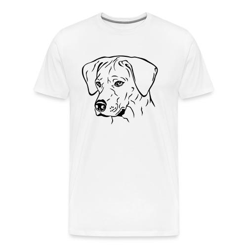 Rhodesian Ridgeback Hündin Kopf schwarz - Männer Premium T-Shirt