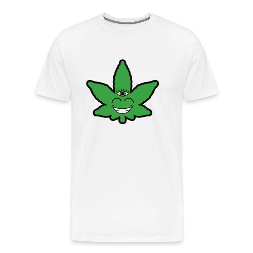 Weed Leave Eye - Mannen Premium T-shirt