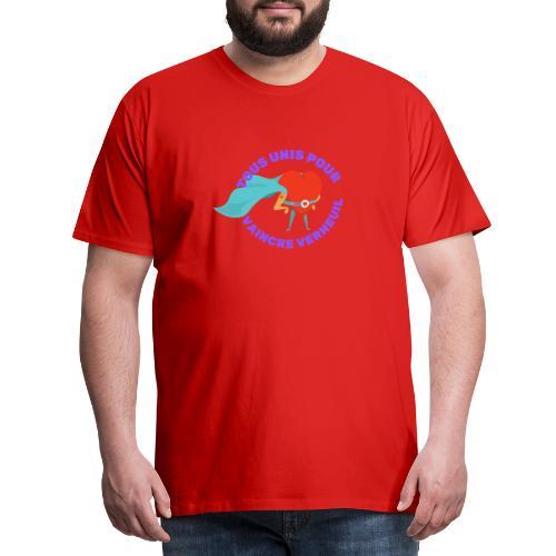 Tous Unis pour Vaincre verneuil violet - T-shirt Premium Homme