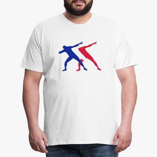 Bolt victory pose 3c - Men's Premium T-Shirt