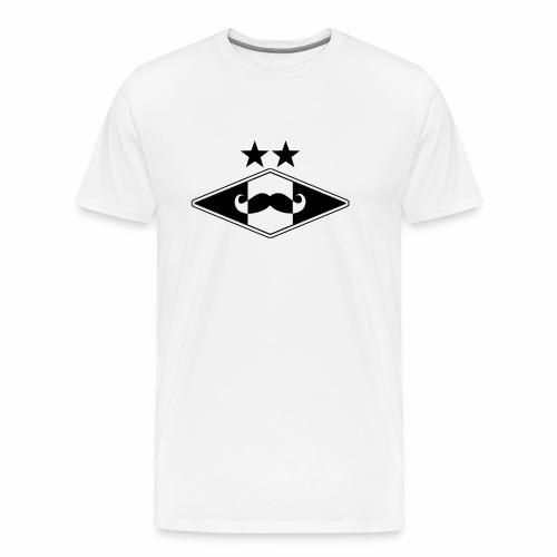 Mustache logo - Premium T-skjorte for menn