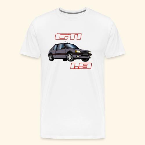 205 GTI 1 .9 90 Gris Magnum - T-shirt Premium Homme