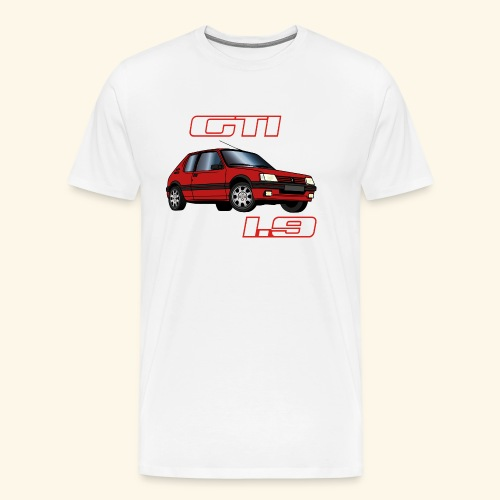 205 GTI 1,9 91 92 93 Rouge Vallelunga - T-shirt Premium Homme
