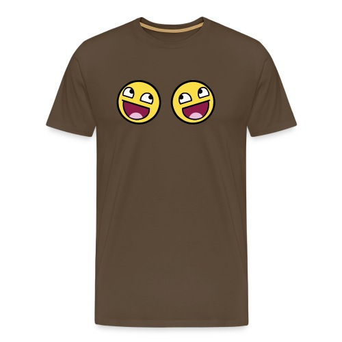 Boxers lolface 300 fixed gif - Men's Premium T-Shirt