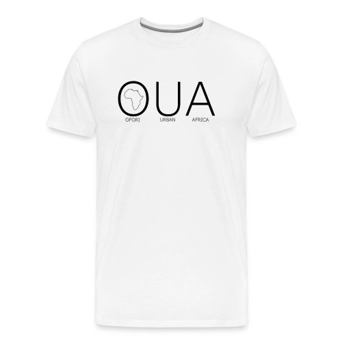 OFORI URBAN AFRICA OUA logo WHITE back png - Men's Premium T-Shirt