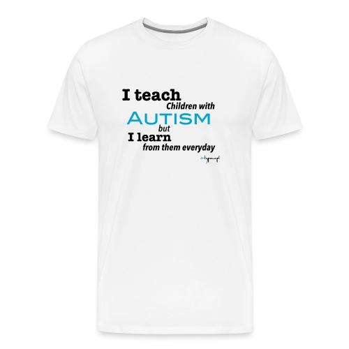 I teach children with AUTISM - Koszulka męska Premium